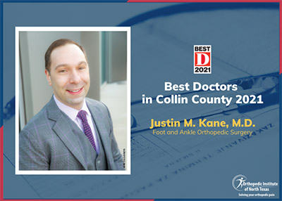 Dr. Justin Kane named one of D Magazine Best Doctors in Collin County 2021